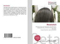 Capa do livro de Resolution