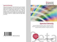Spectral Density kitap kapağı