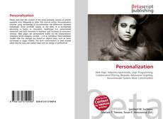 Bookcover of Personalization