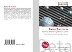 Radon Transform kitap kapağı