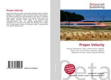 Bookcover of Proper Velocity