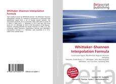 Bookcover of Whittaker–Shannon Interpolation Formula