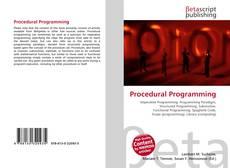 Borítókép a  Procedural Programming - hoz