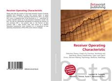 Couverture de Receiver Operating Characteristic