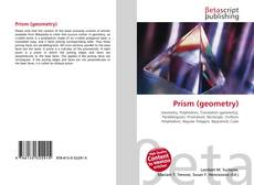 Bookcover of Prism (geometry)