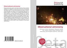 Обложка Observational astronomy