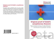 Bookcover of Original proof of Gödel's completeness theorem