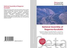 Buchcover von National Assembly of Nagorno-Karabakh