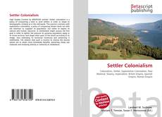 Bookcover of Settler Colonialism