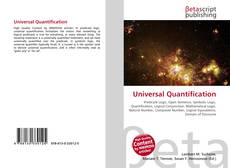 Couverture de Universal Quantification