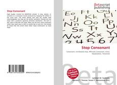 Bookcover of Stop Consonant