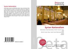 Capa do livro de Syrian Nationalism
