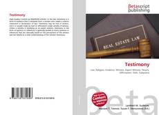 Bookcover of Testimony