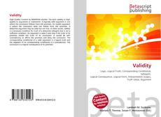 Couverture de Validity
