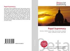 Bookcover of Papal Supremacy