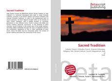 Bookcover of Sacred Tradition