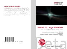 Bookcover of Names of Large Numbers
