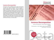 Bookcover of Variance Decomposition
