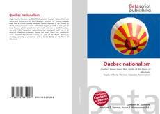 Bookcover of Quebec nationalism
