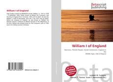 Bookcover of William I of England