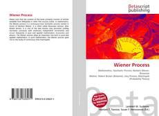 Bookcover of Wiener Process