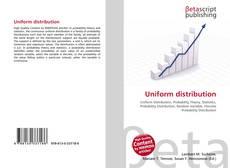 Buchcover von Uniform distribution
