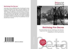 Bookcover of Reichstag Fire Decree