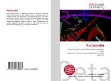 Bookcover of Remainder