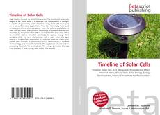 Bookcover of Timeline of Solar Cells