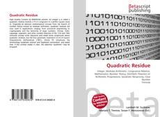 Buchcover von Quadratic Residue