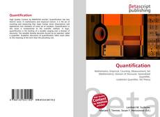 Couverture de Quantification