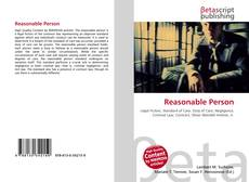 Bookcover of Reasonable Person