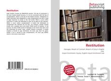 Restitution kitap kapağı