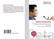 Обложка Speech Processing