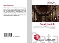 Portada del libro de Restraining Order
