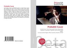 Bookcover of Probable Cause