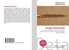 Capa do livro de Sergey Kavtaradze