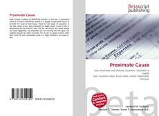 Bookcover of Proximate Cause