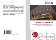 Bookcover of Preliminary Hearing