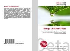 Bookcover of Range (mathematics)