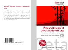 Bookcover of People's Republic of China's Trademark Law