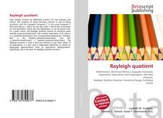 Rayleigh quotient kitap kapağı