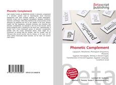 Couverture de Phonetic Complement