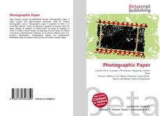 Buchcover von Photographic Paper