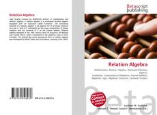 Bookcover of Relation Algebra