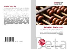 Couverture de Relation Reduction