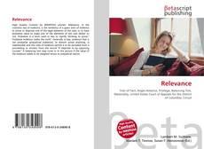 Relevance kitap kapağı