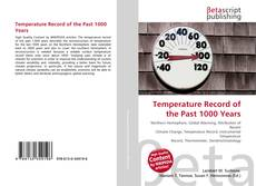 Couverture de Temperature Record of the Past 1000 Years