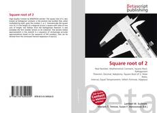 Buchcover von Square root of 2