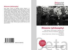 Bookcover of Rhizome (philosophy)